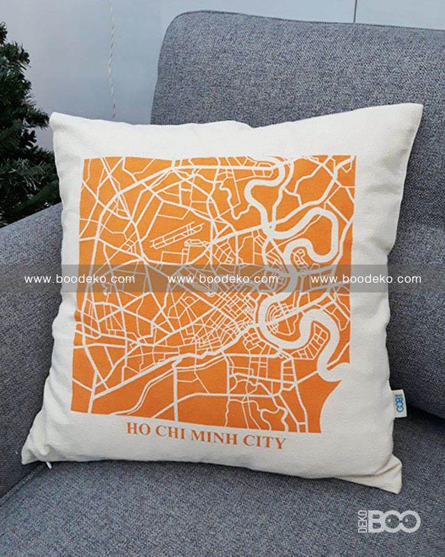 Ho Chi Minh City Cushion Cover